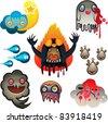 Monsters set, Vector illustration - stock vector
