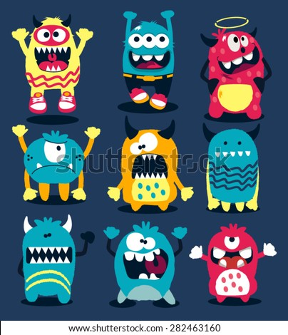 monsters vector set - stock vector