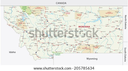 Montana Outline Stock Photos Images Amp Pictures