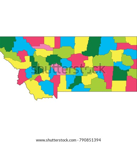 montana map country