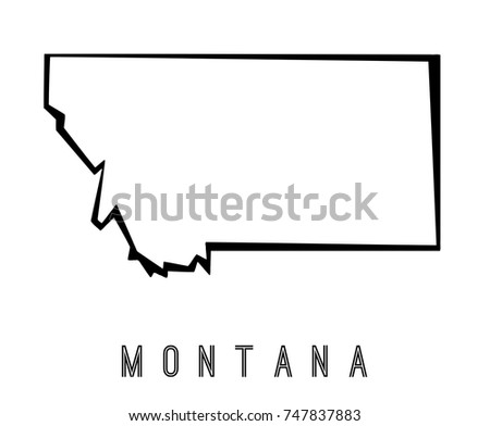 montana map outline us state shape sharp polygonal geometric style vector