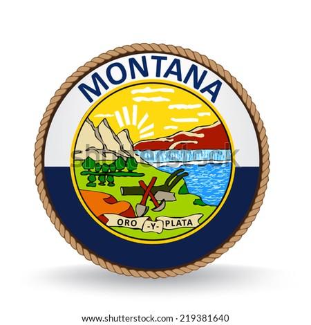 Montana Seal - stock vector