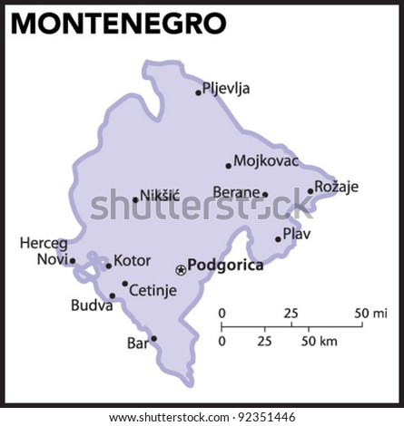 Montenegro Map Stock Images RoyaltyFree Images Vectors - Montenegro maps with countries