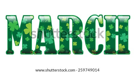 Month Of March - stock vector