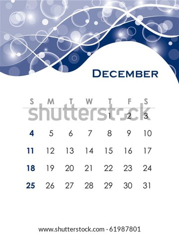 Monthly calendar for 2011 in editable vector format - stock vector