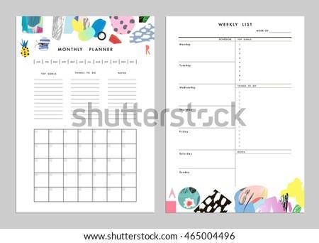 monthly planner organizer