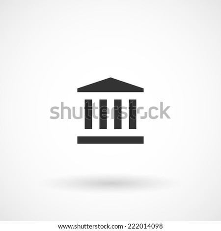 Monument, ancient temple, remarkable sight, point or place of interest icon. Modern minimalist mobile app ui flat simple icon.  - stock vector