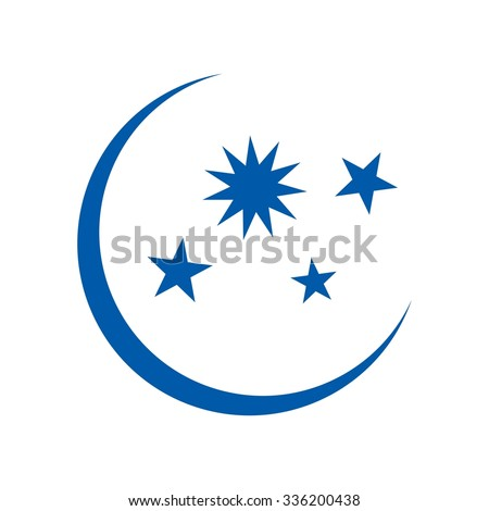 Moon And Star Symbol Text
