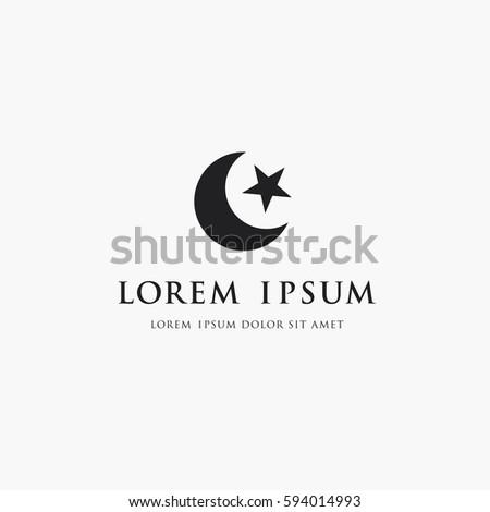 Moon Star Logo Islam Symbol Stock Vector 594014993 Shutterstock