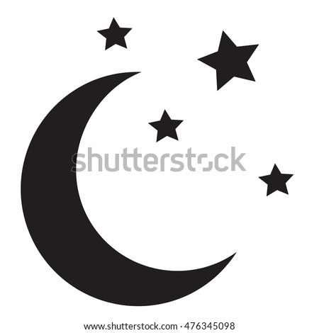 moon stars moon icon vector stock vector 476345098 - shutterstock