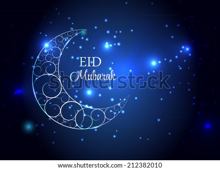 Moon Background for Muslim Community Festival Vector Illustration EPS10 - stock vector