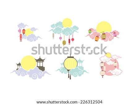 Moon festival icons