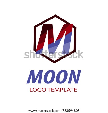 moon logo template