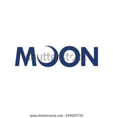 moon logotype vector crescent logo stock vector 344009720