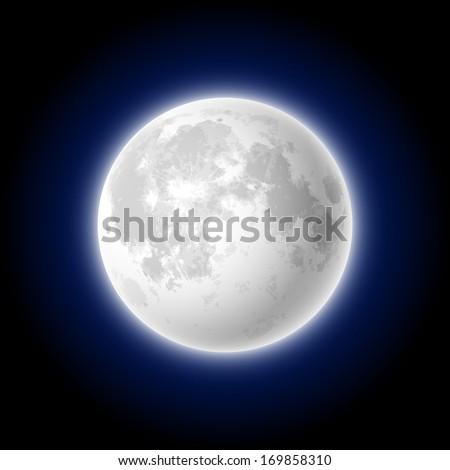 Moon. Vector.