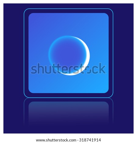 moon, weather icon - stock vector