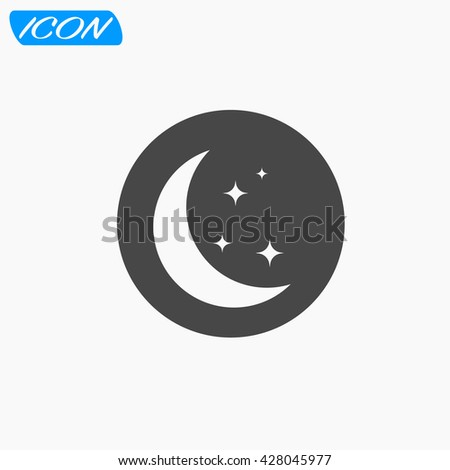 moon with stars icon