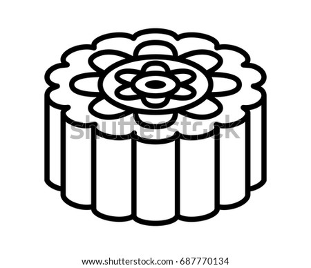 Mooncake stock images royalty free images vectors for Mid autumn moon festival coloring pages