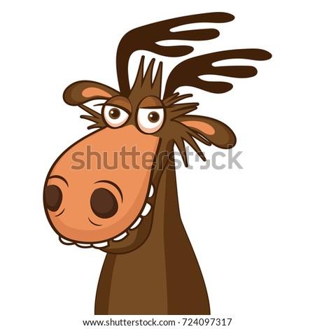Moose face cartoon - photo#31