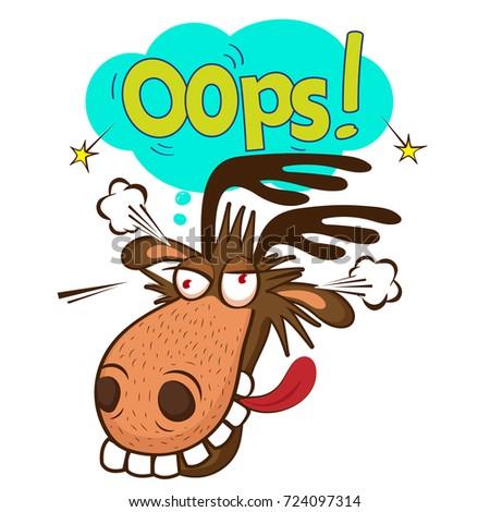 Moose face cartoon - photo#34