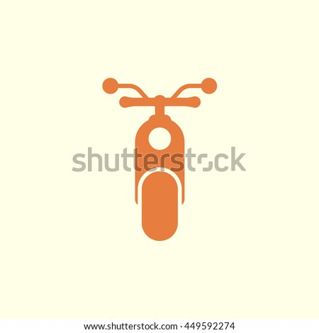 moped icon - stock vector