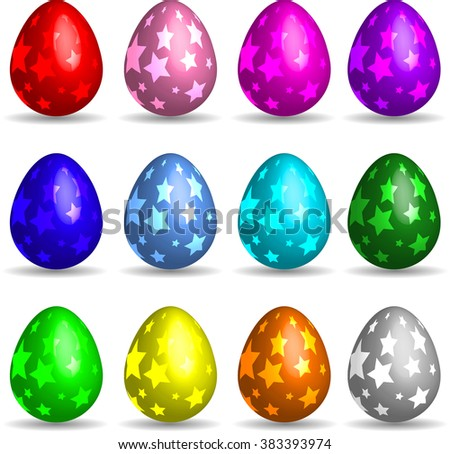 More Easter Eggs. Vector Illustration Collection.