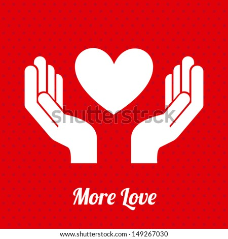 more love design over dotted background vector illustration  - stock vector