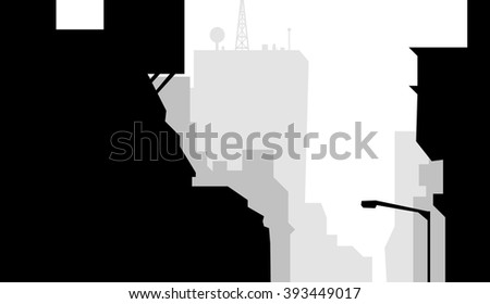 Morning City Roof Skyline - Vector
