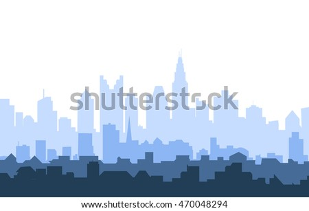 Morning Columbus City Skyline - Vector