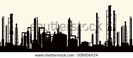 Morning Power Plant - stock vector