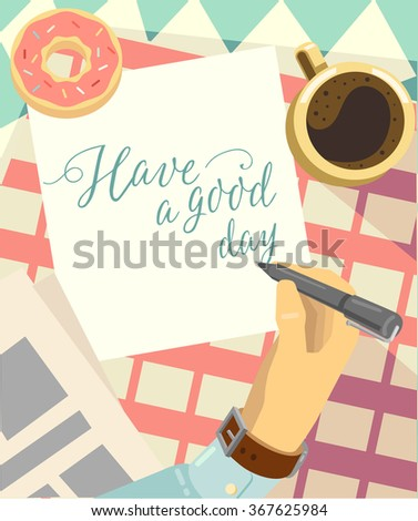 Morning. Vector - stock vector