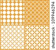 Moroccan lattice seamless patterns set, vector - stock vector