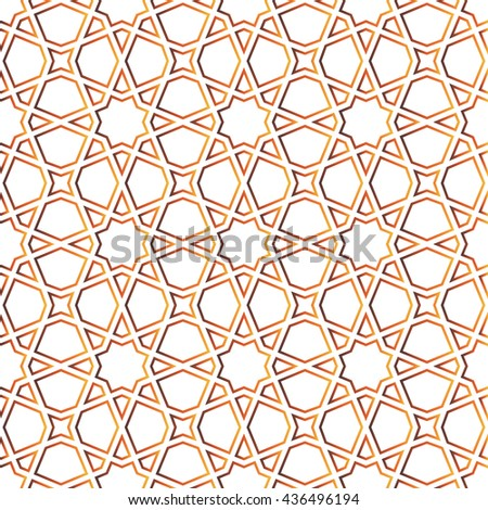 Moroccan pattern as seamless grid. Vector illustration