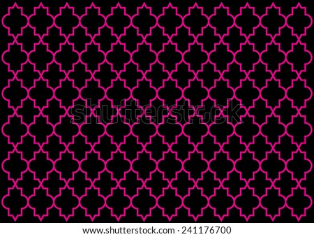 Moroccan Style Pattern. Vector - stock vector