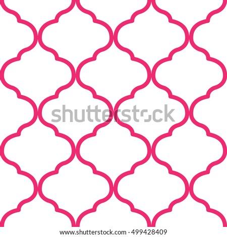 Moroccan Trellis Pattern Stock Vector 499428409