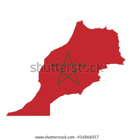 morocco country flag map shape national symbol