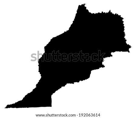 Morocco vector map isolated on white background. High detailed silhouette illustration  - stock vector