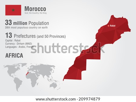Morocco world map pixel diamond texture stock vector 2018 morocco world map with a pixel diamond texture world geography gumiabroncs Image collections