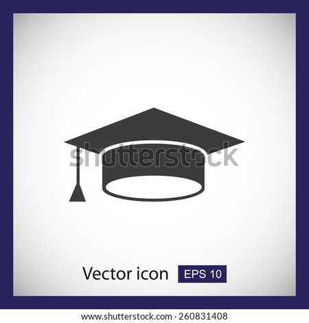 Mortar Board or Graduation Cap  - stock vector