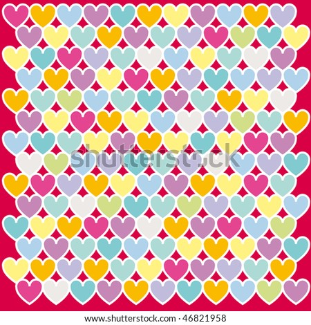 Mosaic abstract colours heart vector illustration - stock vector