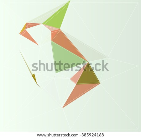 mosaic backdrop geometry origami modern art triangle