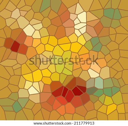 Mosaic background in warm autumn colors