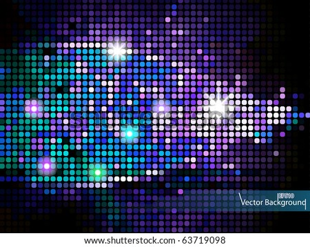 Mosaic background or business card. EPS10 Vector. - stock vector