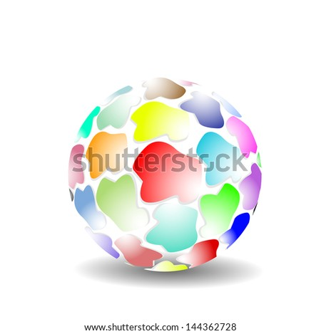 Mosaic color ball.
