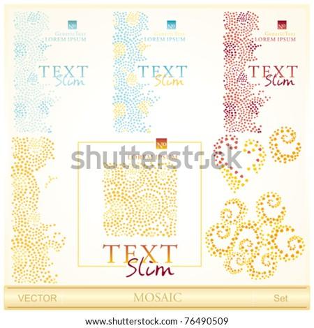 Mosaic design set - stock vector