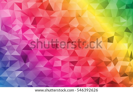 Mosaic design templates rainbow abstract vector stock vector mosaic design templates rainbow abstract vector geometric triangle texture background for business card and web reheart Images