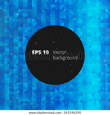 Mosaic from circle and square elements for your design - stock vector