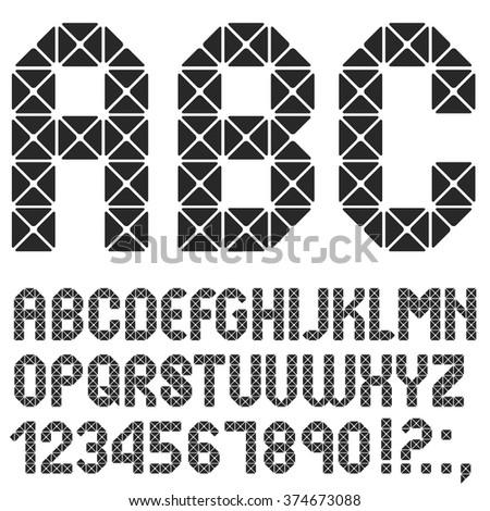 Mosaic original Alphabet. Vector eps10 - stock vector