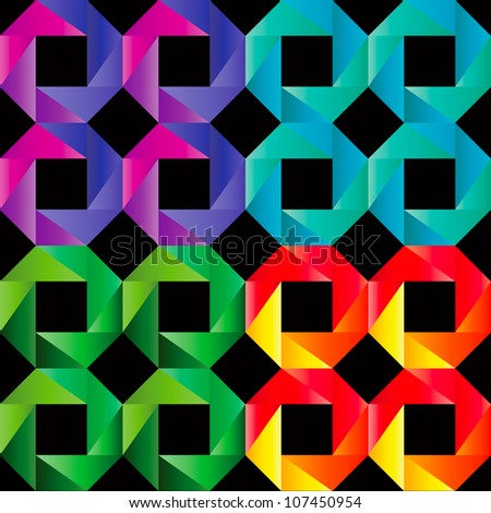 Mosaic Seamless Pattern Decorative Ornament Backdrop Pattern for Fabric, Textile. - stock vector