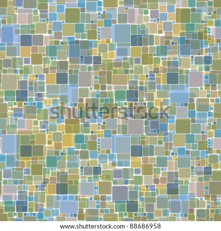 Mosaic seamless pattern, vector background. - stock vector